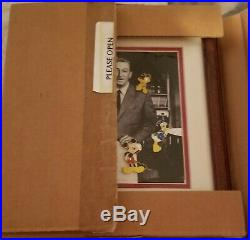 Walt Disney And Friends Alex Maher Open Edition 5 Pin Framed Set Mickey New