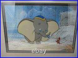 Walt Disney Animation Art Dumbo Limited Edition Serigraph Sericel Framed