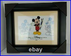 Walt Disney Animation Gallery Mickey Mouse Genius At Work Framed Cel