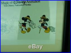 Walt Disney Animation Gallery Mickey Mouse Traveling Framed Cel