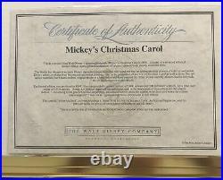 Walt Disney Animation Mickey's Christmas Carol Scrooge McDuck Framed Sericel LE