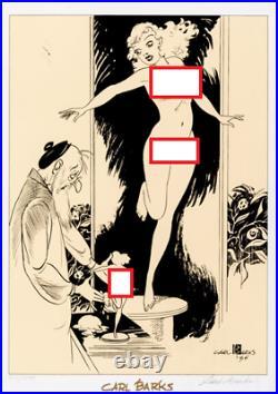 Walt Disney Animator Carl Barks Signed 1934 Print LE Sculptor and Model