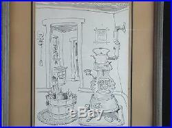Walt Disney Artist Bud Rickert Original Ink Sketch Winter's Best Friend Rare