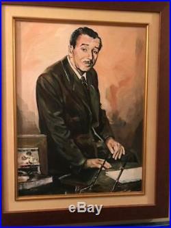 Walt Disney Autograph -signed Phil Sears Coa Mint Framed With Bonus Giclee