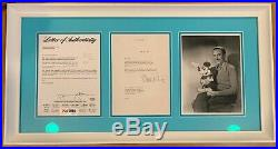 Walt Disney Autographed 1963 Original Signed Letter Custom Framed PSA & DNA Auto