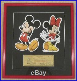 Walt Disney Autographed Signed Check to Special Account Georgeous! And Framed