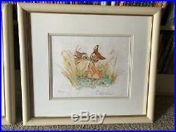 Walt Disney BAMBI LE Framed Signed Lithographs Frank Thomas & Ollie Johnston