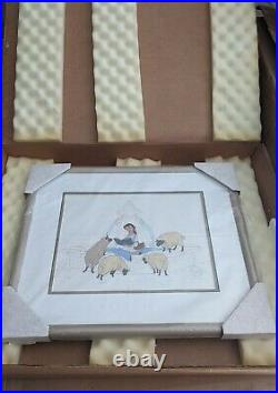 Walt Disney BELLE AT THE FOUNTAIN, FRAMED SERICEL NEW IN BOX MINT