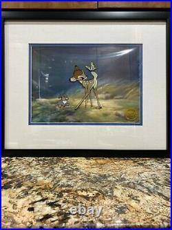 Walt Disney Bambi Limited Edition serigraph cel framed 9,500