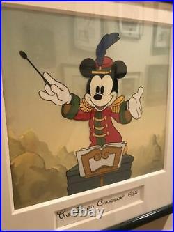 Walt Disney Bandleader Mickey 1935 framed Sericel withCoA