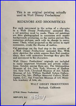 Walt Disney'Bedknobs And Broomsticks', (1971). (Matted and Framed) #DA18