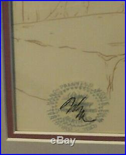 Walt Disney Black Cauldron Creeper framed original cel painting with COA