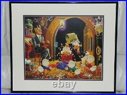 Walt Disney Carl Barks Scrooge Mcduck Donald Duck Time For Therapy Framed Print