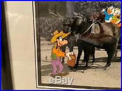Walt Disney Cel Mickey Stagecoach 330/950 Limited Edition WithCertificate Framed