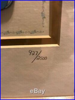 Walt Disney Cinderella 50th anniversary Framed Pin Set Signed & Numbered RARE