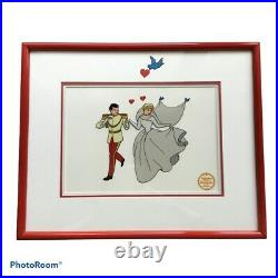 Walt Disney Cinderella Serigraph Cel Art Limited Edition Framed Matted Authentic
