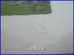 Walt Disney Classic Pooh Lithograph''London Bridge'