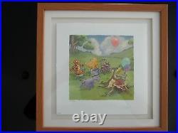 Walt Disney Classic Pooh Lithograph''Musical Chairs'