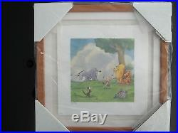 Walt Disney Classic Pooh Lithograph''Pin the Tail on the Donkey'