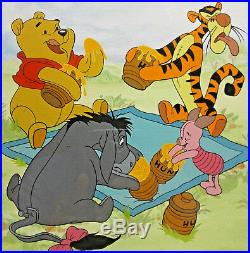 Walt Disney Classic Prints Pooh Lithograph Hunny of a Day Seriagraph Limited J1A