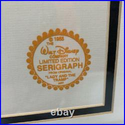Walt Disney Co. LE Lady and the Tramp 1955 Serigraph, Framed