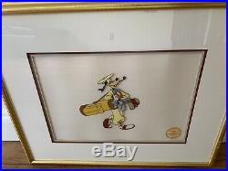 Walt Disney Co. Limited Edition How to Play Golf Goofy Sericel, Framed