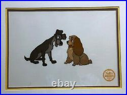 Walt Disney Co. Limited Edition Lady and the Tramp 1955 Serigraph, Framed