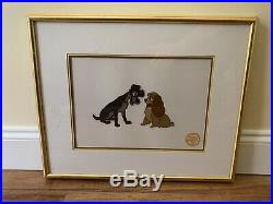 Walt Disney Co. Limited Edition Lady and the Tramp Serigraph Cel, Framed