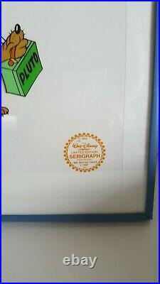 Walt Disney Co. Limited Edition MICKEY MOUSE & PLUTO Serigraph Cel Framed