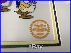 Walt Disney Co. Limited Edition Mr. Duck Steps Out Serigraph Cel, Framed