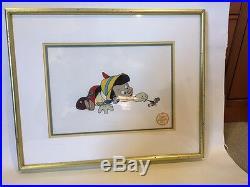 Walt Disney Co. Limited Edition Pinocchio Serigraph Cel, Framed