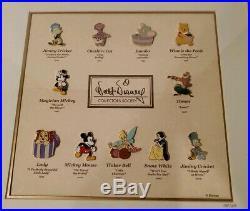 Walt Disney Collectors Society Decade of Dreams Framed Pin Set LE RARE