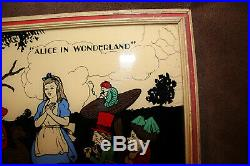 Walt Disney Color Enamel On Glass 1933 Alice in Wonderland Reliance Frame Co