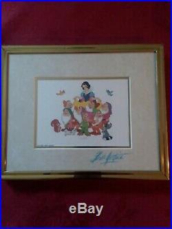 Walt Disney Company Bill Justice Signed Snow White Art Print Framed