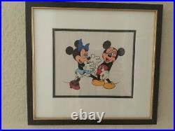 Walt Disney Company Minnie Loves Mickey Limited Edition Framed Serigraph Cel