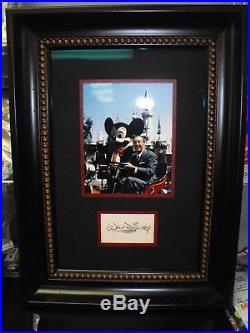 Walt Disney Cut Autographed Framed With Picture