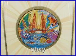 Walt Disney DCA Disney California Adventure Framed Inaugural Pin Set