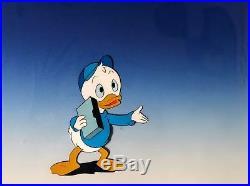 Walt Disney Dewey Original Hand Painted Animation Production Cel CUSTOM FRAMED