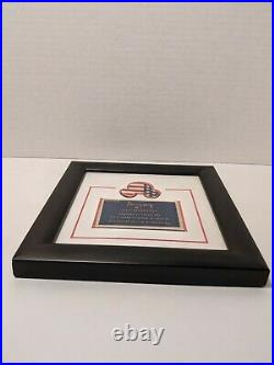 Walt Disney Disneyland Framed Quote Tomorrow America Freedom & USA Pin