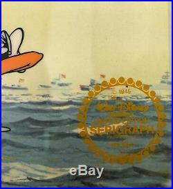 Walt Disney Donald Duck & Goofy No Sail L/ED SerIcel Custom Framed FREE SHIPPING