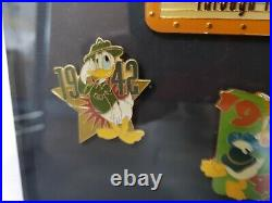Walt Disney Donald Duck Limited Edition Through the Years Pin Set Framed #148