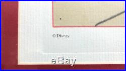 Walt Disney Donald Duck Litho Pencil Sketch Drawing Animation 1940 Framed