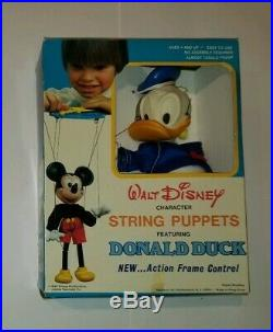 Walt Disney Donald Duck String Puppet with Action Frame Control