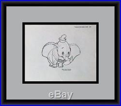 Walt Disney Dumbo Original Model Sheet Drawing 1971 CUSTOM FRAMED FREE SHIPPING