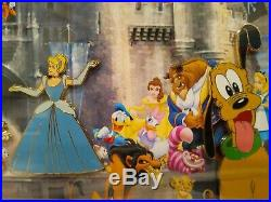 Walt Disney Exceptional Special Edition Framed Print With Pins Rare Collectable