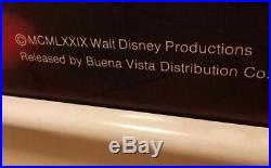 Walt Disney Family Estate Mickey Mouse Disco RETLAW Inventory Tag Framed Poster