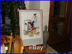 Walt Disney Framed Fine Art Poster Mickey Mouse Drawing Painting Art