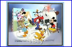 Walt Disney Framed LE Hand Painted Sericel Cal Arts with COA Team Members Only