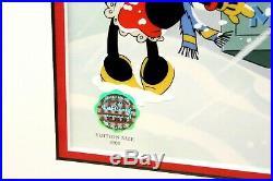 Walt Disney Framed Sericel Greeting the Season with COA LE (Holidays Christmas)