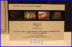 Walt Disney Framed'Villainous Portraits' Ltd Sericel AUTOGRAPHED